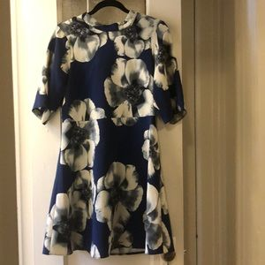 ASOS Navy and floral casual dress
